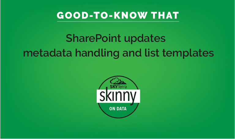 SharePoint updates meta data handling and list updates