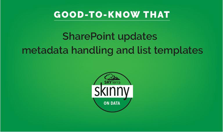 SharePoint updates meta data handling and list updates